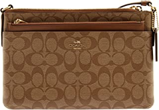 Coach Signature East West CrossBody,Color Brown/Black