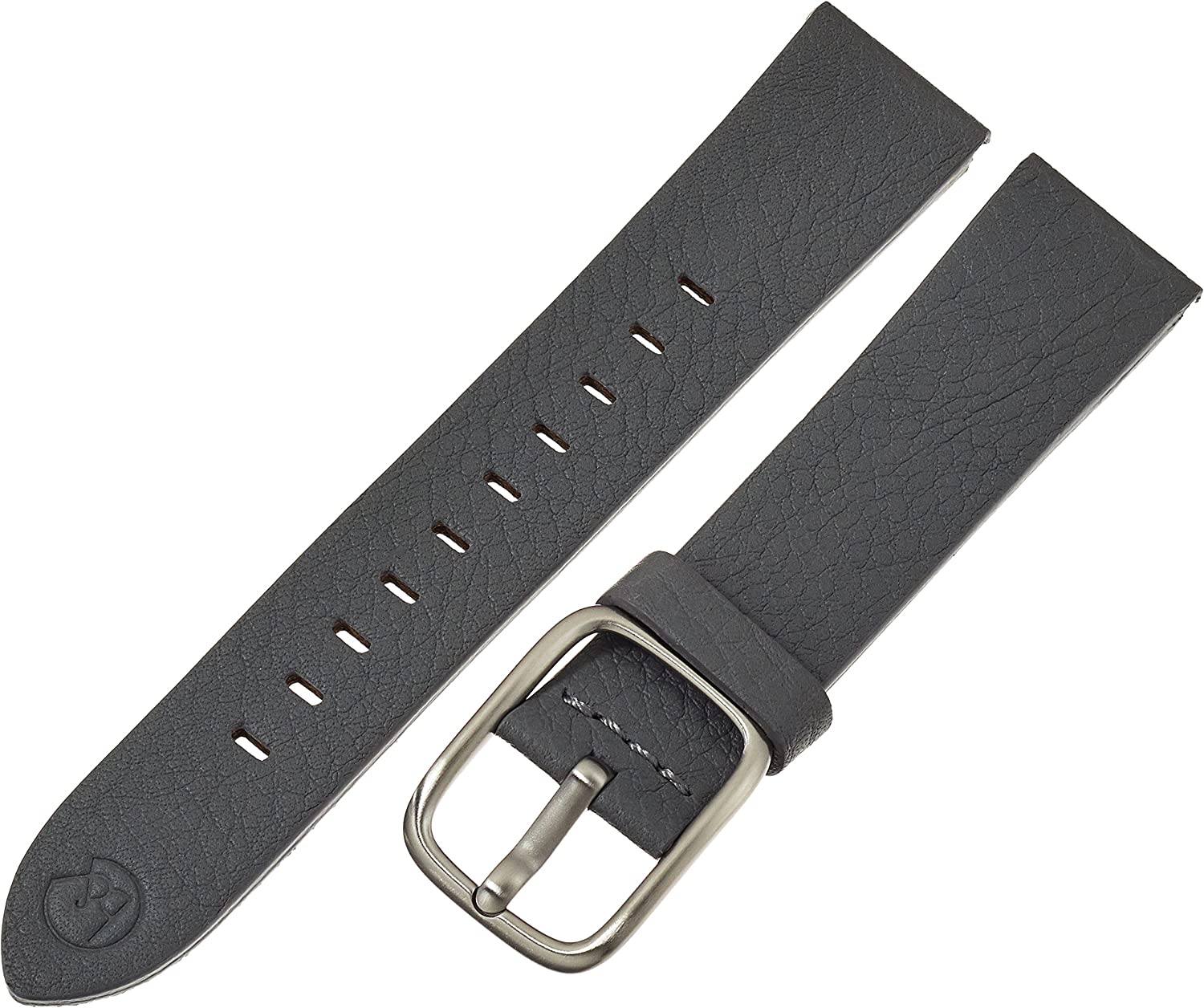 bnd by Hadley-Roma with Mode Grey Leather Genuine Milwaukee Mall Ba Factory outlet 20mm Watch
