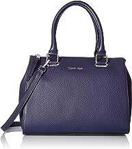 Calvin Klein Halle Pebble Leather Top Zip Key Item Satchel
