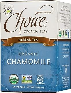 Choice Organic Teas Herbal Tea, 16 Tea Bags, Chamomile, Caffeine Free