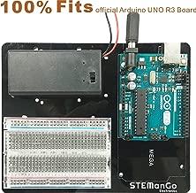 STEMango Arduino and Breadboard Holder Plastic Mounting Base Plate for UNO MEGA2560 R3 Board