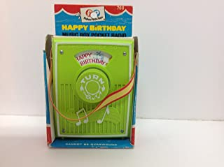 Fisher Price Music Box Pocket Radio Happy Birthday # 768 Year 1970