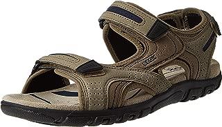 Geox U Strada Men's Fashion Sandals, Beige (Sand/Navy), 10 UK (44 EU),U8224D050AU