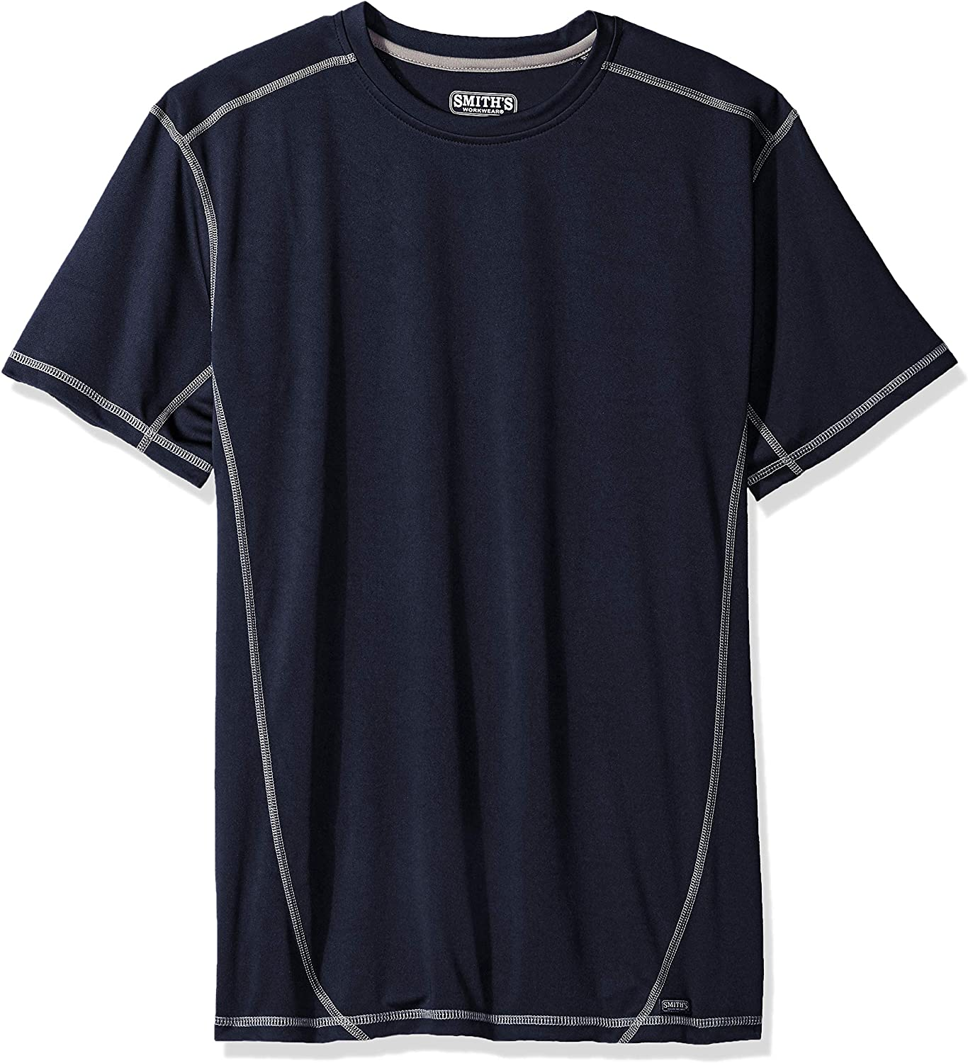 Smith's Workwear Men's Clearance SALE! Limited time! Performance High quality new Contrast Crew T-Shirt