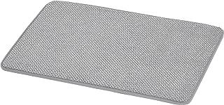 AmazonBasics Textured Memory Foam Bath Mat - Large, Grey