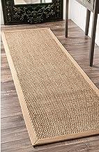 "nuLOOM Elijah Seagrass Natural Runner Rug, 2' 6"" x 10', Beige"