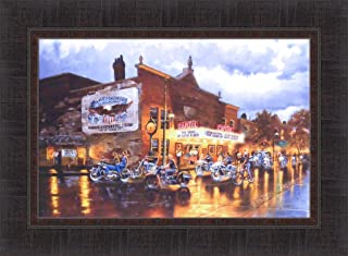 Home Cabin Décor American Classics by Dave Barnhouse 17x23 Motorcycles Bikes Harley Davidson Americana Framed Art Print Picture