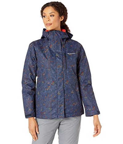 Columbia Whirlibird IV Interchange Jacket (Dark Nocturnal Dotty Floral Print/Bold Orange) Women