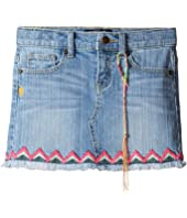 Lucky Brand Kids - Denim Mini Skirt w/ Embroidery (Little Kids)