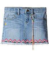 Lucky Brand Kids - Denim Mini Skirt w/ Embroidery (Little Kids)