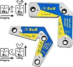 S&R Magneti per Saldatura. Supporto angolare 15°, 45°, 60°, 90°, 120°, 135°, 165°, portata max 9 kg e 13 kg