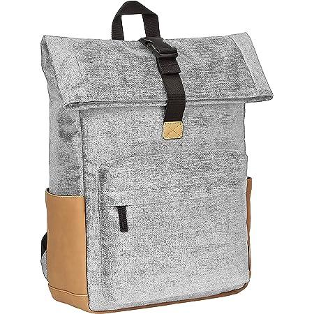 Amazon Basics Sac à dos antivol avec haut retroussable, gris