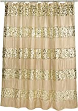 """Popular Bath Shower Curtain, Sinatra Collection, 70"""" x 72"""", Champagne/Gold"""