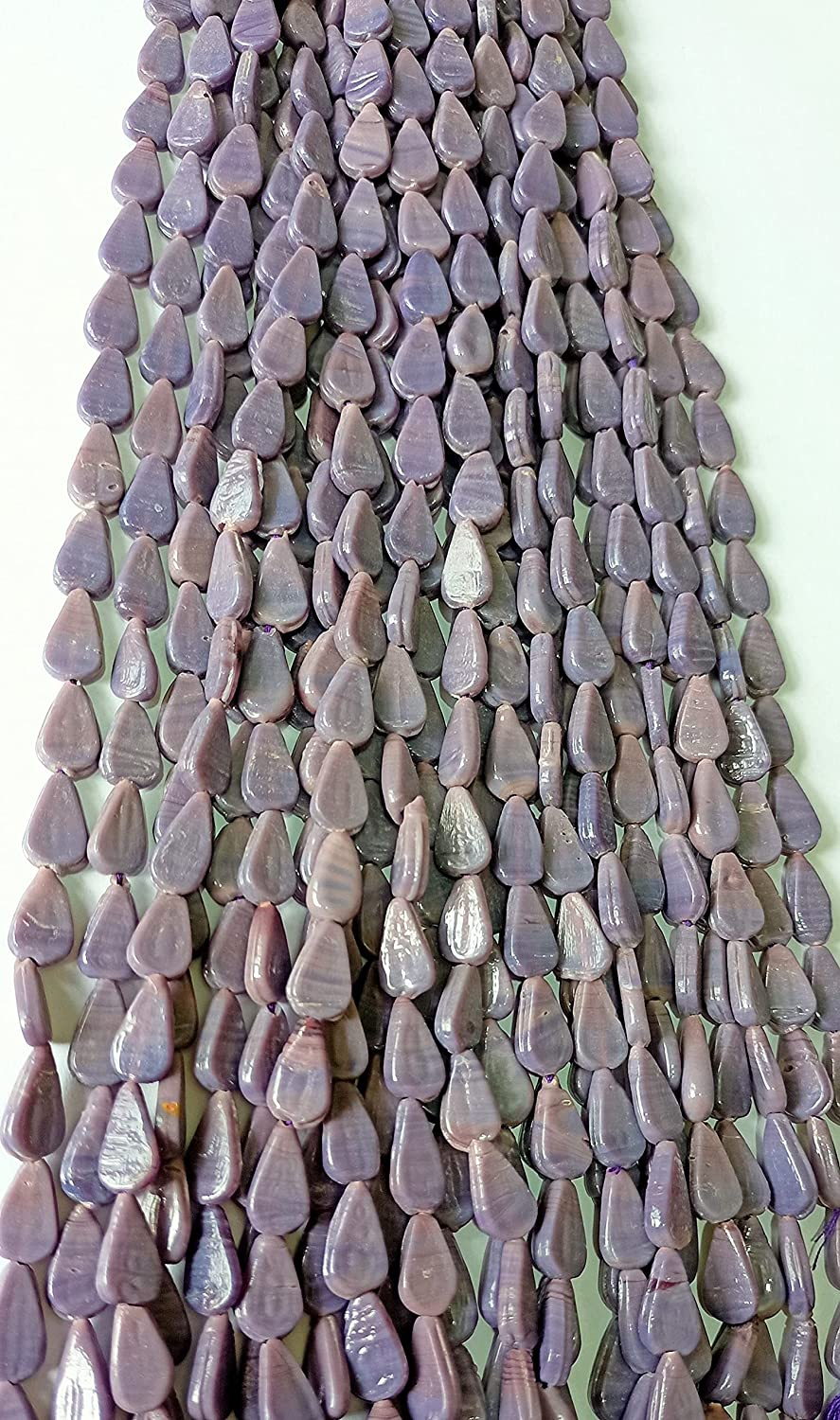 Sugilite Glass Fashion Beads Max 90% OFF Strand Smooth Whol Shape Drill Pear
