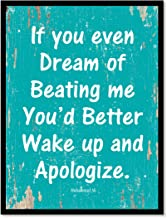 SpotColorArt If You Even Dream of Beating Me You'd Better Handcrafted Canvas Print 13