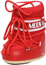 Tecnica MOON BOOT MINI NYLON NERO 140043 - Botas para niños, color Rojo (RED 3), Talla 19/22