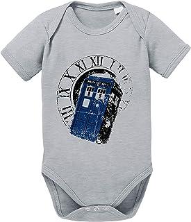Sambosa Dr Rom Doctor Baby Strampler Who Bio Baumwolle Body Jungen & Mädchen 0-12 Monate Tv Serie