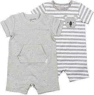 Sponsored Ad - Mac & Moon Organic Cotton 2-Pack Romper, Baby Boy or Baby Girl