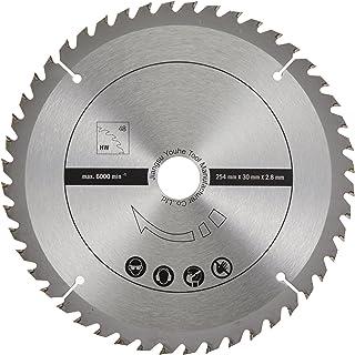 scheppach 7901200714 tillbehör såg/HW sågblad set 2 delar för kapsåg locksåg geringssåg HM140L, idealisk för skärning av t...