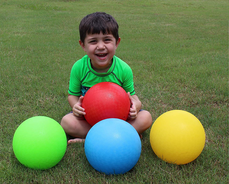 8.5 Inch Playground Balls セール価格 Red Blue Rainbow Green and 永遠の定番モデル Yellow