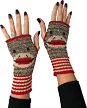 Green 3 Women's Recycled Cotton Hand Warmer Fingerless Gloves One Size