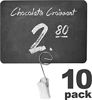 10 Pack Rustic Mini Chalkboard Signs With Clip - Chalk Sign - Easy To Write And Wipe Out - For Liquid Chalk Markers And Chalk - Food Labels For Party - Small Chalk Boards Signs For Food With Clip