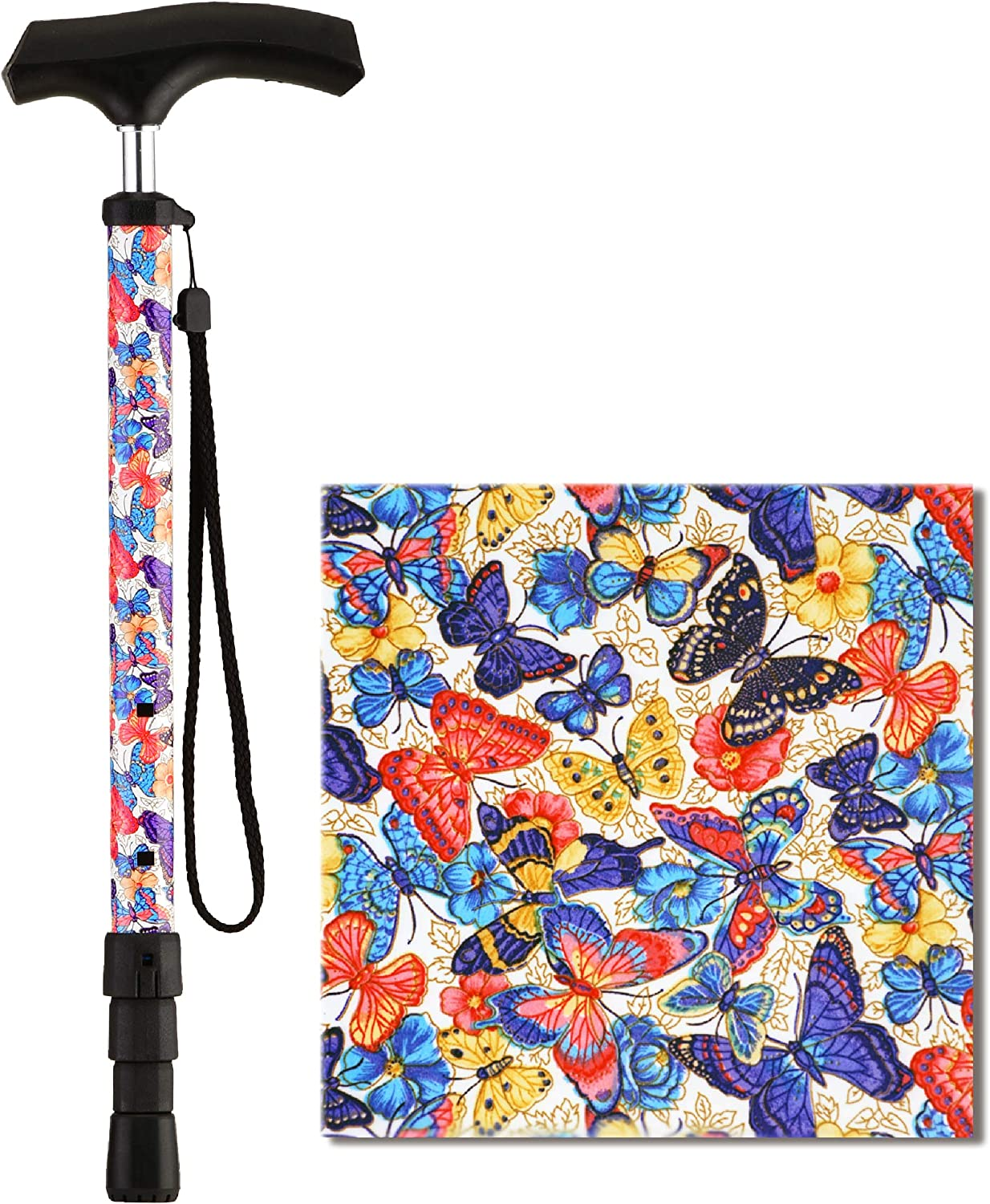 NOVA Compact Travel Our shop most popular Cane with Strap Max 60% OFF Portable Lightw Collapsible
