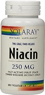 Solaray Niacin Two-Stage, Timed-Release Vegan, Veg Cap (Btl-Plastic) 250mg   100ct