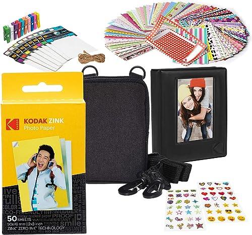 new arrival Kodak 2x3ʺ Premium Zink online sale Paper 2021 Starter Kit with Soft Case sale