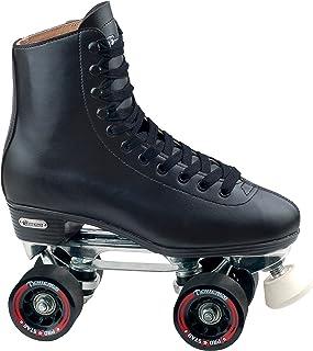 Chicago Men's Leather Lined Rink Roller Skate, Black