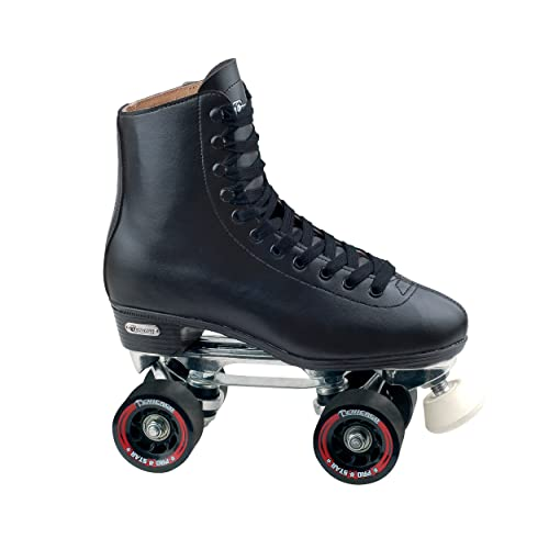 Chicago Mens Leather Lined Rink Roller Skate, Black