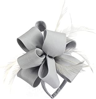 Myjoyday Fascinator Hats for Women Tea Party Wedding Headband Feather Cocktail Headwear Hair Clip