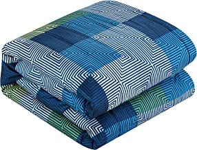 American Original Geo Blocks Bed in A Bag, Full, Blue