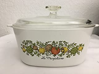 Vintage Corning Ware SPICE O' LIFE 3 Quart Covered Casserole w/Lid