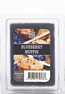 Hosley Blueberry Muffin Wax Cubes- 2.5 oz Each. Hand Poured Wax Infused with Essential Oils. Ideal for Weddings, Spa, Reiki, Meditation Settings W1