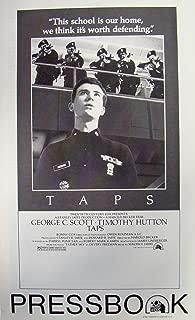 Taps Vintage 1981 Pressbook with Timothy Hutton, George C. Scott