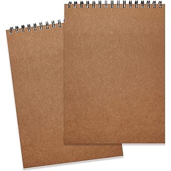 Bloc de Dibujo A4 (Pack de 2) - 128g/m² 46 Hojas en Cada Cuaderno ...