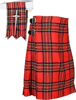 Scottish Royal Stewart Tartan Kilt FREE Flashes & Kilt Pin