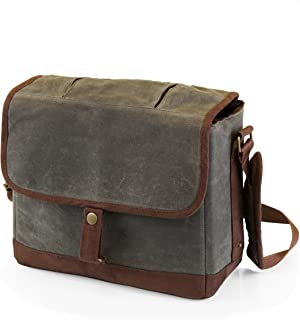 LEGACY - a Picnic Time Brand Double Growler Insulated Tote, Khaki Green/Brown