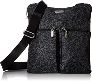 Baggallini Horizon Lightweight Crossbody Bag - Multi-Pocketed, Water Resistant Travel Purse with Removable Wristlet