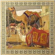 Kaarigari Artifacts Rajasthan Camel Fridge Magnet/Multipurpose Magnet (Gold Finish)
