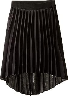 Long Black High Low Skirt
