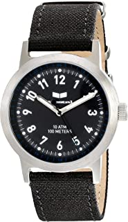Unisex ABC3C05 Alpha Bravo Canvas Analog Display Quartz Black Watch