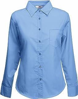 Fruit of the Loom Poplin Shirt LS Lady-fit Camisa para Mujer