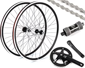 Eighth Inch Fixed Gear/Single Speed Conversion Kit 700c Wheelset Cranks // Black