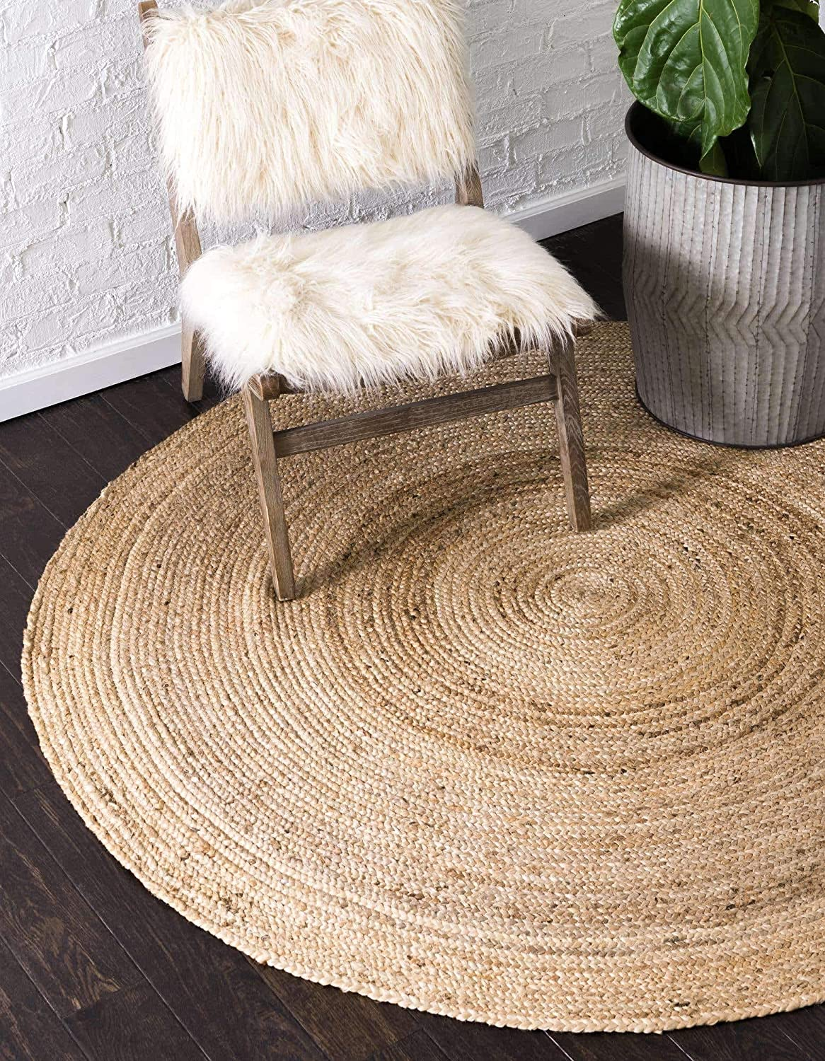 Unique Loom Braided Jute Collection Fibers Seasonal Wrap Introduction 2021 model Hand Natural Woven Na