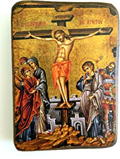 IconsGr Ikonenbild, auf Holz, handgefertigt, Motiv: Jesu'