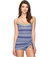 Bleu Rod Beattie - Road to Morocco Skirted Over the Shoulder Mio One-Piece