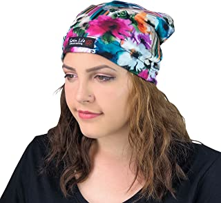 Adjustable Drawstring Patterned Satin Lined Hat Cap Beanie …