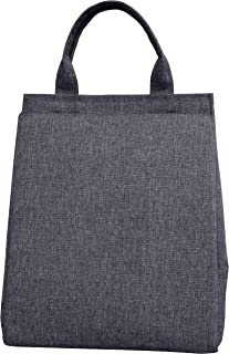 KOKAKO Lunch Bag Lunch Box Cooler Bag Insulated with Shoulder Strap for Men Women Kids (Gray)